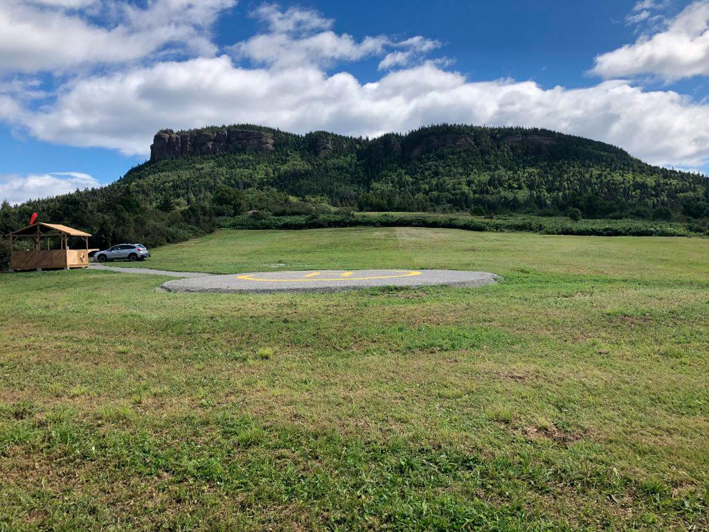, Avancement des travaux du pole de décollage de Hélico Horizon Gaspésie